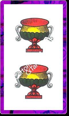 2 di Coppe del mazzo delle carte napoletane