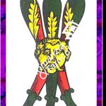 3 Bastoni del mazzo delle carte napoletane