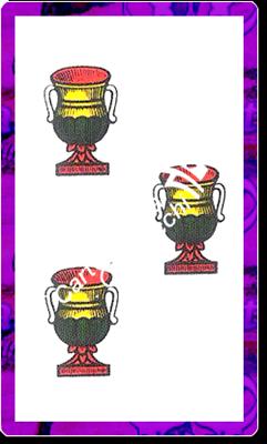 3 di Coppe del mazzo delle carte napoletane