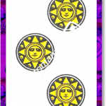 3 di Denari del mazzo delle carte napoletane