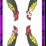 4 Bastoni del mazzo delle carte napoletane
