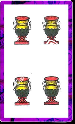 4 di Coppe del mazzo delle carte napoletane