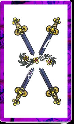 4 Spade del mazzo delle carte napoletane