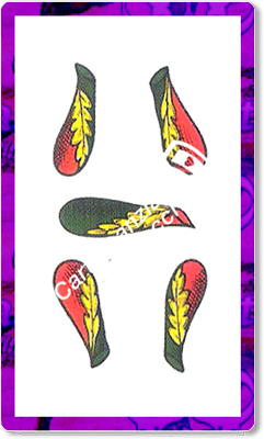 5 Bastoni del mazzo delle carte napoletane