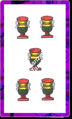 5 di Coppe del mazzo delle carte napoletane