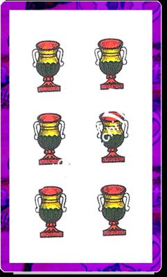 6 di Coppe del mazzo delle carte napoletane