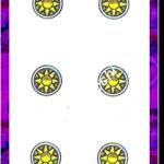 6 di Denari del mazzo delle carte napoletane