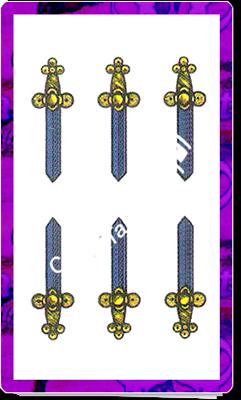 6 Spade del mazzo delle carte napoletane