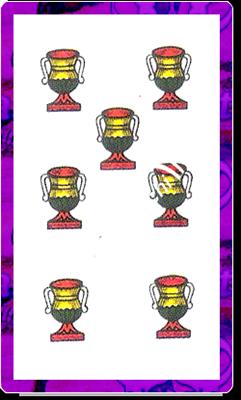 7 di Coppe del mazzo delle carte napoletane