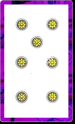 7 di Denari del mazzo delle carte napoletane