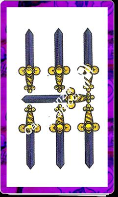 7 Spade del mazzo delle carte napoletane