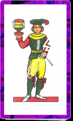 8 di Coppe del mazzo delle carte napoletane