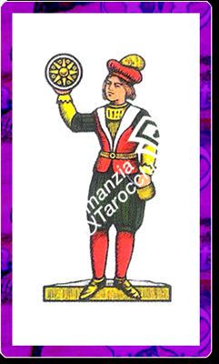 8 di Denari del mazzo delle carte napoletane