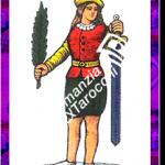 8 Spade del mazzo delle carte napoletane