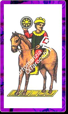 9 di Denari del mazzo delle carte napoletane
